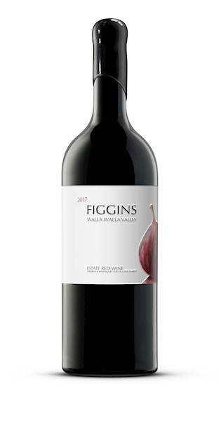 FIGGINS 2017 Estate Red Wine, Etched & Hand-Painted 1.5L Bottle LARGE