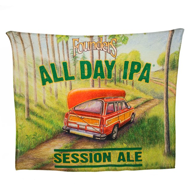 All Day IPA Sublimated Blanket THUMBNAIL