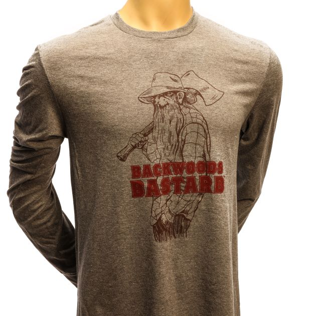 Backwoods Bastard Long-Sleeve Tee - Heather Grey SWATCH