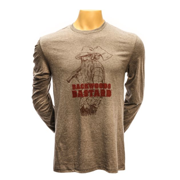 Backwoods Bastard Long-Sleeve Tee - Heather Grey LARGE