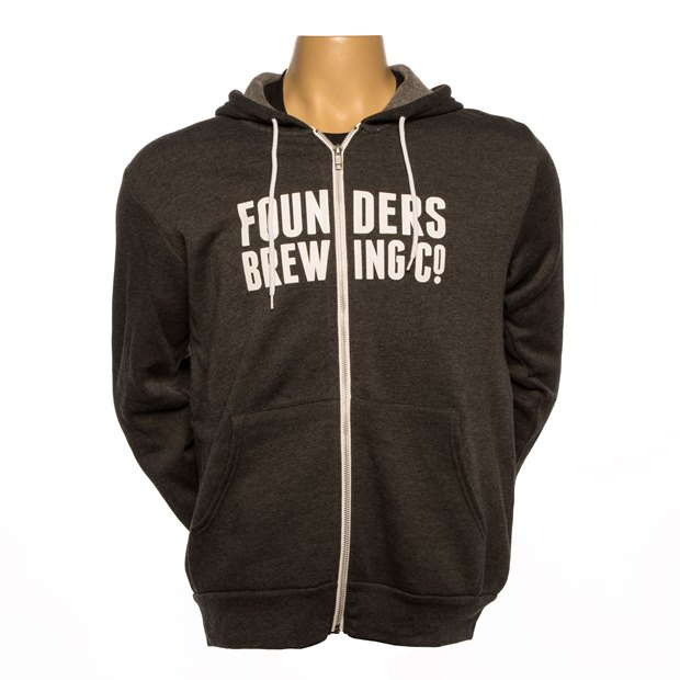 Founders Logo Full-Zip Hoodie - Charcoal THUMBNAIL