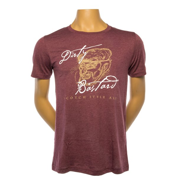 Dirty Bastard Tee - Heather Maroon THUMBNAIL