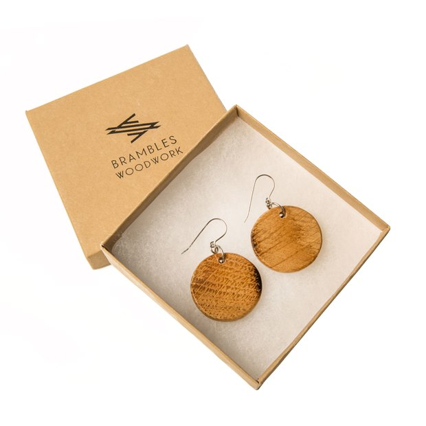 KBS Barrel Stave Earrings THUMBNAIL