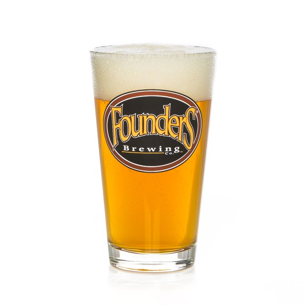 Founders Logo Pint Glass SWATCH