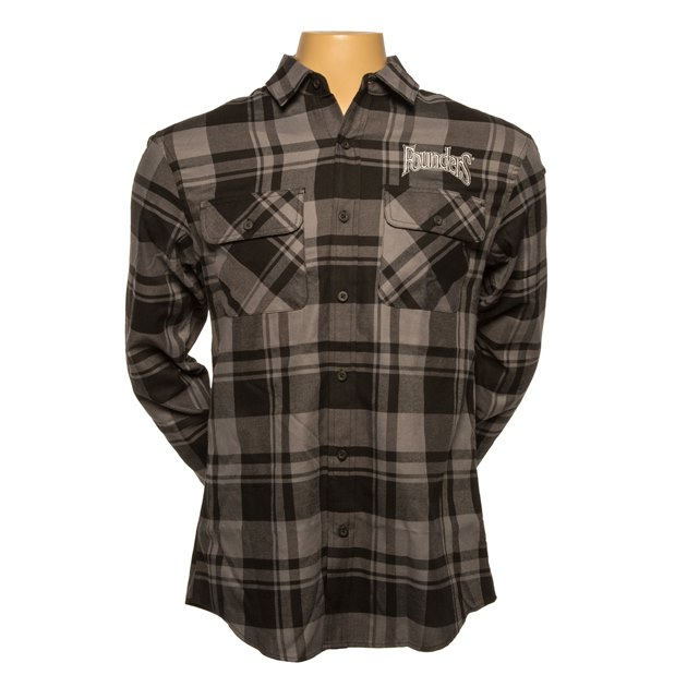 Flannel Shirt - Black/Grey THUMBNAIL