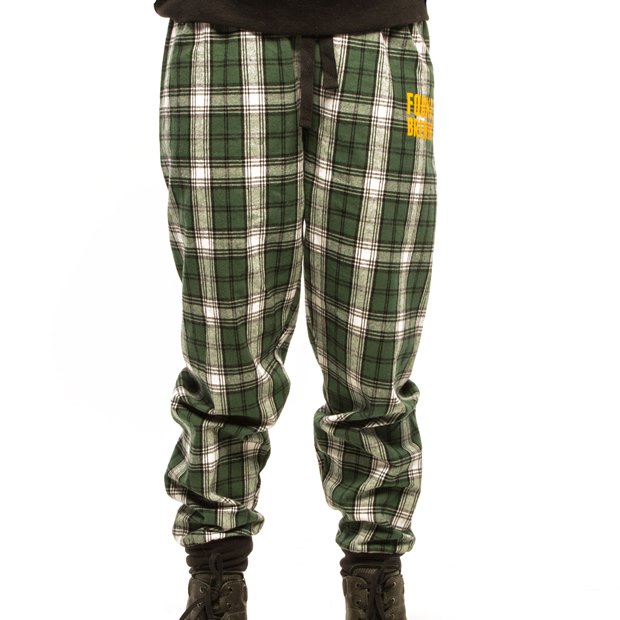 Women's Plaid Flannel Joggers LARGE