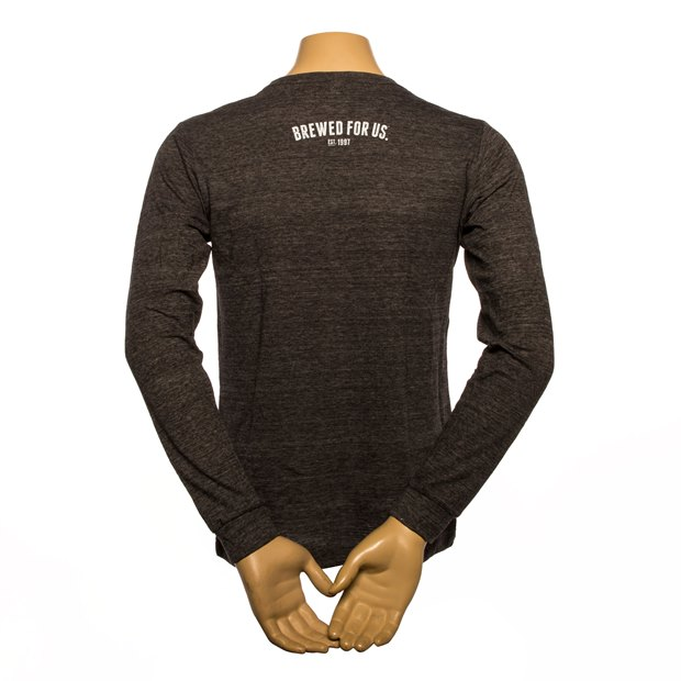 Founders Logo Long-Sleeve Tee - Charcoal Black Slub SWATCH