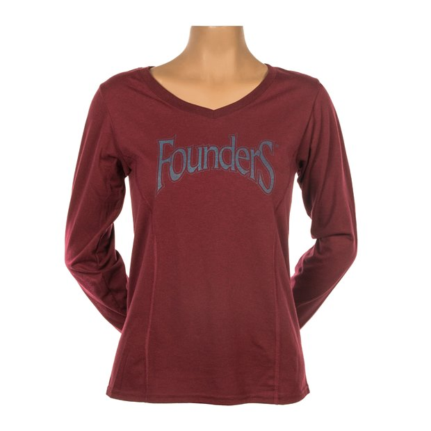 Women's Long-Sleeve Logo Tee - Maroon THUMBNAIL