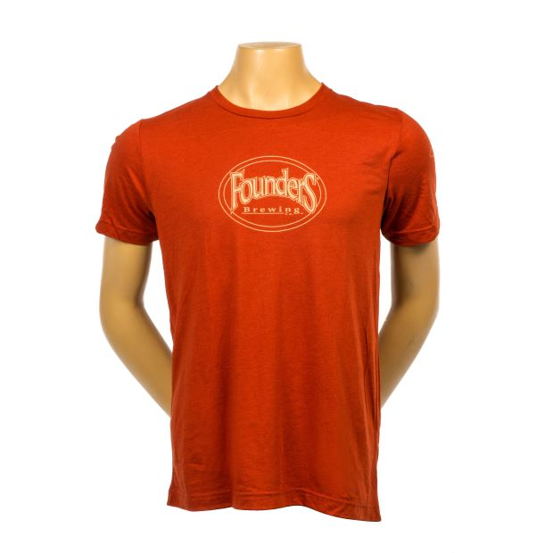 Founders Logo Tee - Brick Triblend LARGE