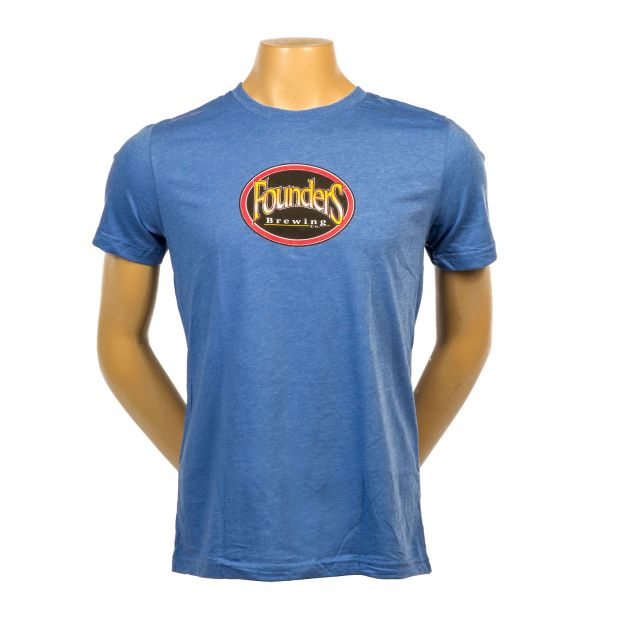 Founders Logo Tee - Heather Royal THUMBNAIL