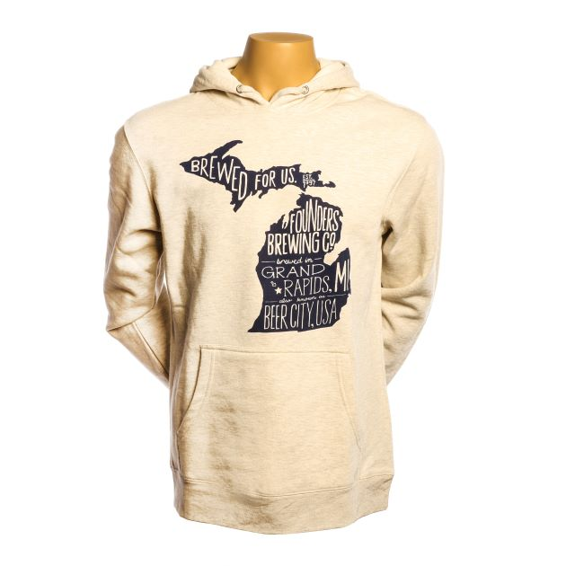 Michigan Pullover Hoodie - Heather Oatmeal LARGE