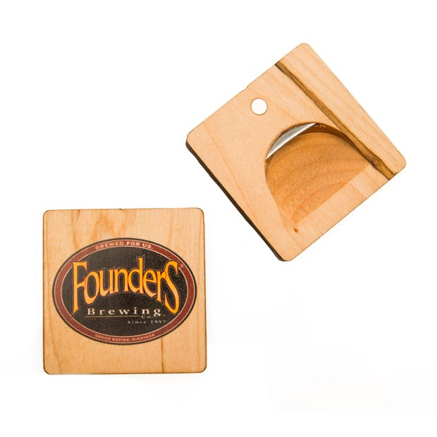 Wood Magnetic Bottle Opener LARGE