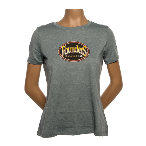 Women's Mantra Logo Tee - Heather Slate THUMBNAIL
