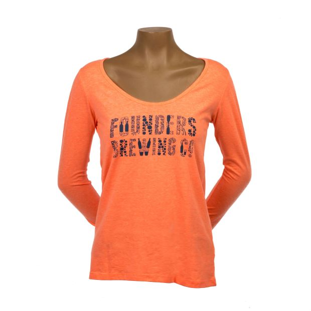 Women's Long-sleeve Logo Tee - Coral SWATCH