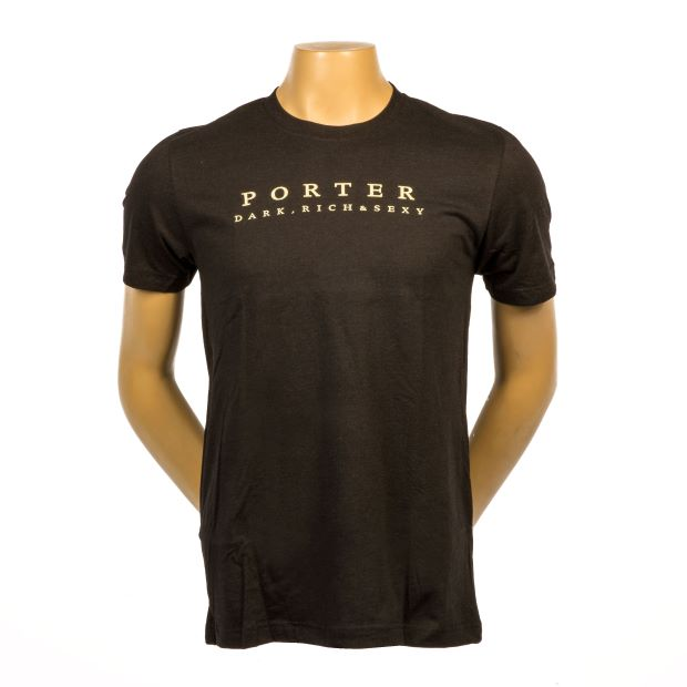 Porter Tee - Black Heather LARGE