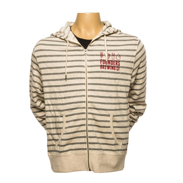 Founders Striped Full-Zip Hoodie THUMBNAIL
