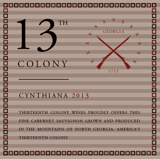 <b>Thirteenth Colony</b></br>Cynthiana</br>2013 THUMBNAIL