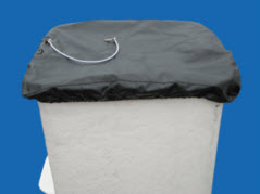 "Bucket Cover, Black Vinyl, 24"" x 28"" Extended (58 1/2 Seam to Seam) MAIN"