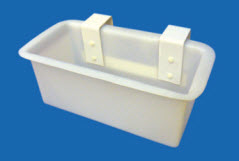 "Tool Tray, Polyethylene, 8"" x 18"" x 8"" Deep, Outside Mount, Twin Mounting Lips with Nylon Bolts"