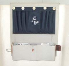 Hanging Thigh Brace/Tool Tray, Apron on Top, Polyethylene