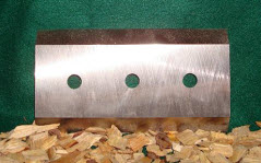 "7 1/4"" x 4"" x 5/8"" Double Edged Knife 5/8"" Hole"