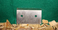 "3 1/8"" x 2"" x 1/4"" Double Edged Knife"