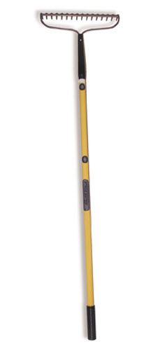 Professional Grade Bow Rake with Fiberglass Handle