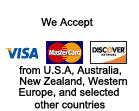 Global Equipment Exporters accepts Visa, Mastercard, and Discover from U.S.A. customers