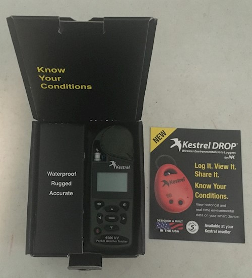 Kestrel 4500NV Bluetooth Pocket Weather Tracker NEW IN THE BOX LARGE