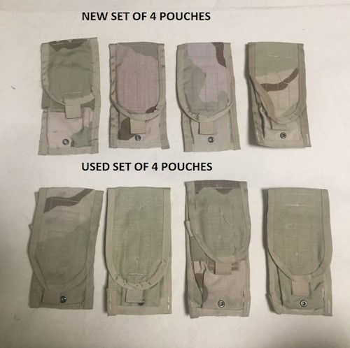 4 USGI Military M4 Double Mag Pouchs LARGE