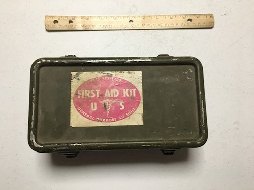 Army WWII Jeep Vehicle 1st Aid Kit LARGE