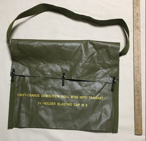 1-50FT-CVharge Demolition Roll M186 With Taggant 15-Holder Blasting Cap M 8 Bag SWATCH