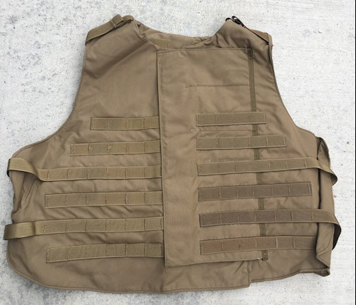 Interceptor OTV IBA Coyote Brown Plate Carrier - Choose W/O or WITH IIIA Ballistic Kevlar inserts XL LARGE