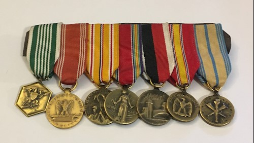Collection of Seven Mini Medals LARGE