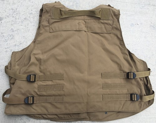 Interceptor OTV IBA Coyote Brown Plate Carrier - Choose W/O or WITH IIIA Ballistic Kevlar inserts XL SWATCH