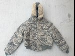 Civil Air Patrol! Dakota Outerwear N2B ABU Digital Tiger Stripe Bomber Parka w Faux Fur Trim Ruff THUMBNAIL