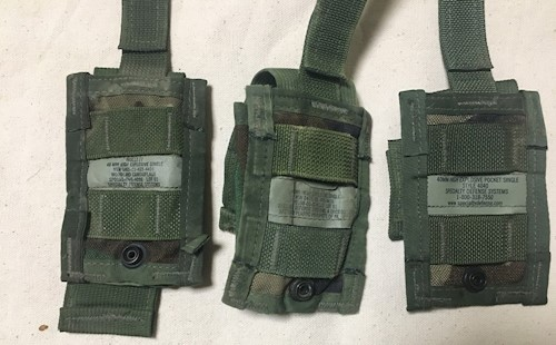 Set of 3 40 mm High Explosive Single Woodland MOLLE Ammo Pouch SWATCH