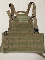 Improved Rack Vest Specialty Defense Style S006 Coyote Brown Side Zipper THUMBNAIL