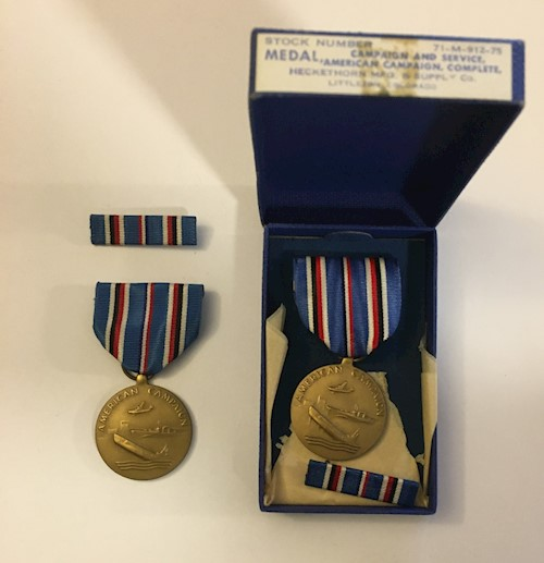American Campaign Medal & Ribbon LARGE