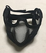 Steel Lower Face Guard Covers entire bottom half of face including ears THUMBNAIL