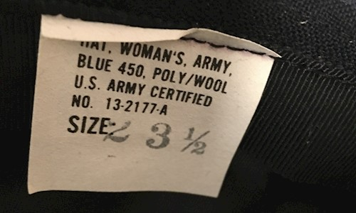 Woman's Army Dress Blue Enlisted Service Hat SWATCH