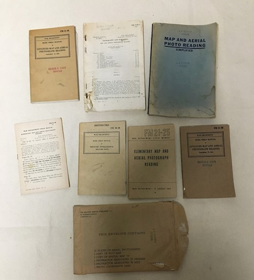 Collection of 7 WWII Army Manuals LARGE