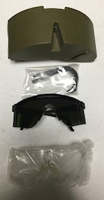 Level 1 MSA Z87 R-1 Safety Clear Tinted Military Ballistic Glasses in Hard Plastic case w ALICE clip THUMBNAIL