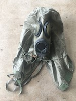 1 M17A2 Gas Mask with installed filters and attached M6A2 Hood THUMBNAIL