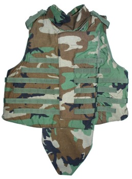 Interceptor OTV IBA BDU Woodland Plate Carrier w Soft KEVLAR Inserts, throat and groin included LARGE