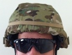 USGI MICH MultiCam ACH ECH Helmet Covers with IR Tabs & Cat Eye Band Option