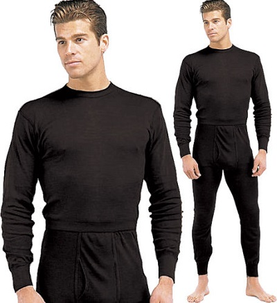 Level 1 Black Silk Weight Thermal Undergarments