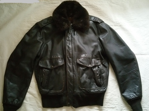 Schott NYC A-2 Naked Cowhide Leather Flight Jacket – Glenn's Army ...