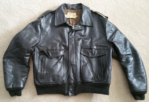 9ab9ac38273 Schott NYC Vintage A-2 Leather Flight Jacket Size 46 – Glenn s Army  Surplus