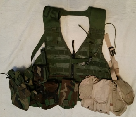USGI Tactical Zippered FLC w 8 Pouches